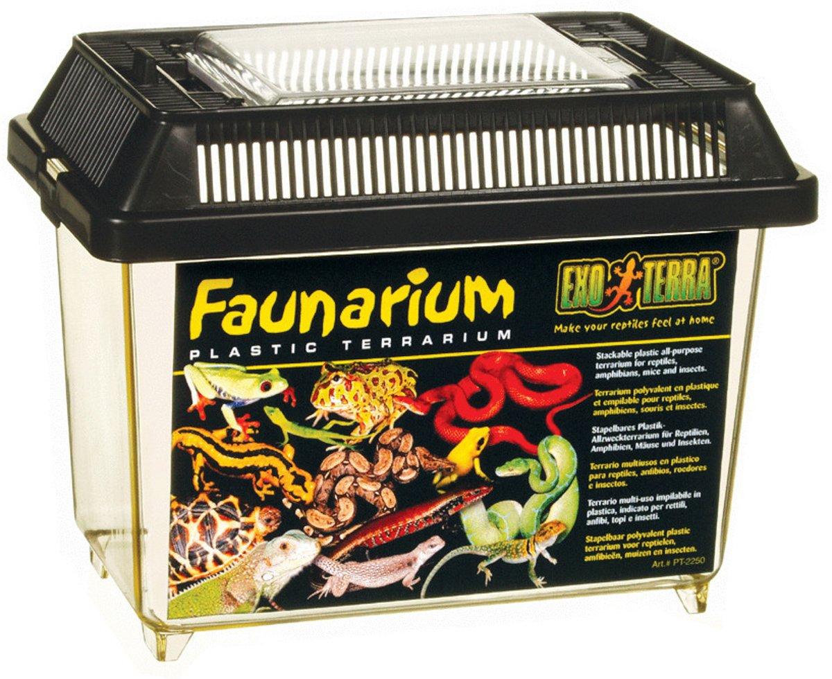 Exo Terra Terrarium Faunarium Mini Zwart 18x11x12.5 cm
