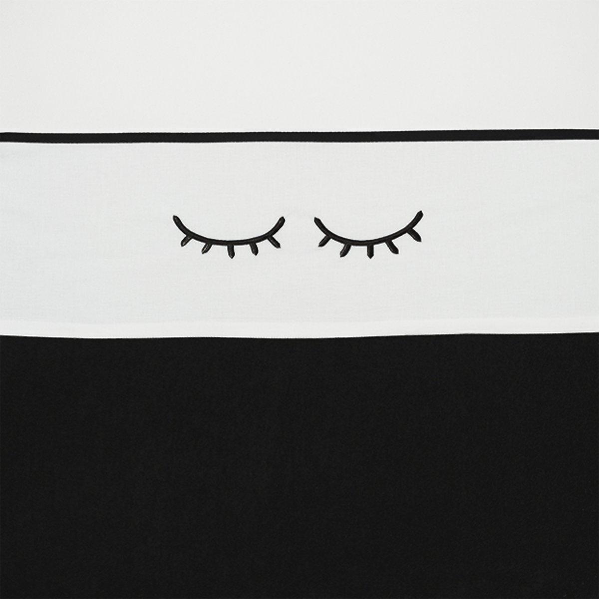 Meyco Sleepy eyes wieglaken - 75 x 100 cm - zwart