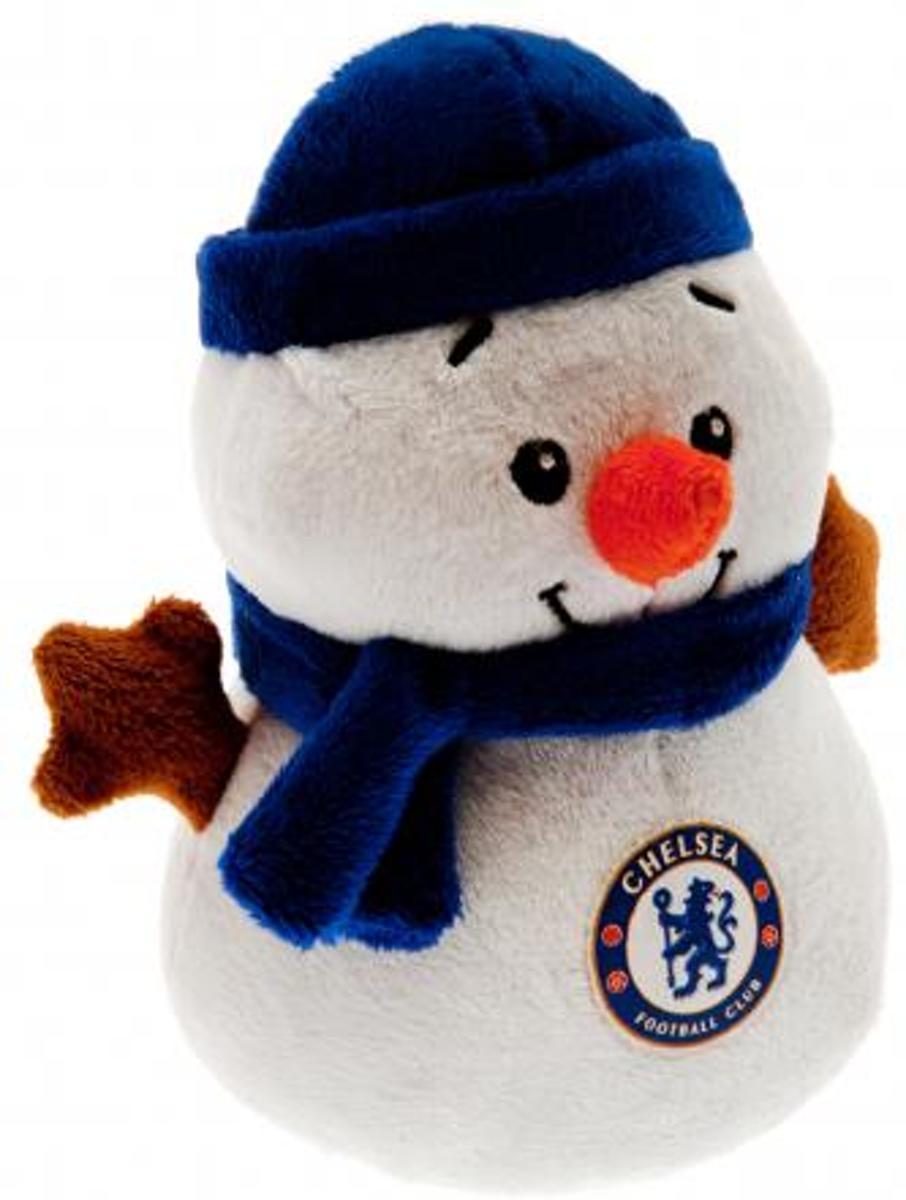 Chelsea Beer - Sneeuwman - 15cm - Wit/Blauw