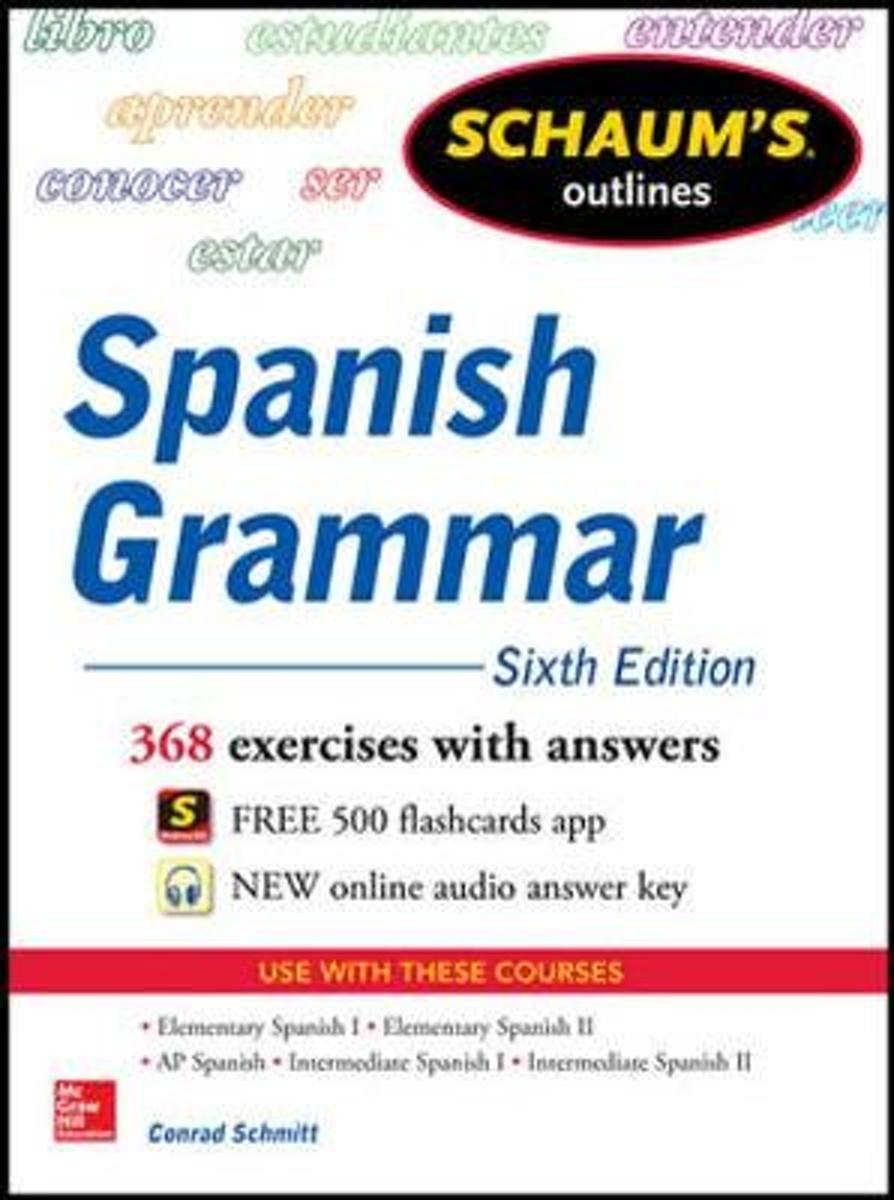 bol.com   Schaum's Outline of Spanish Grammar, Conrad J. Schmitt    9780071830416   Boeken