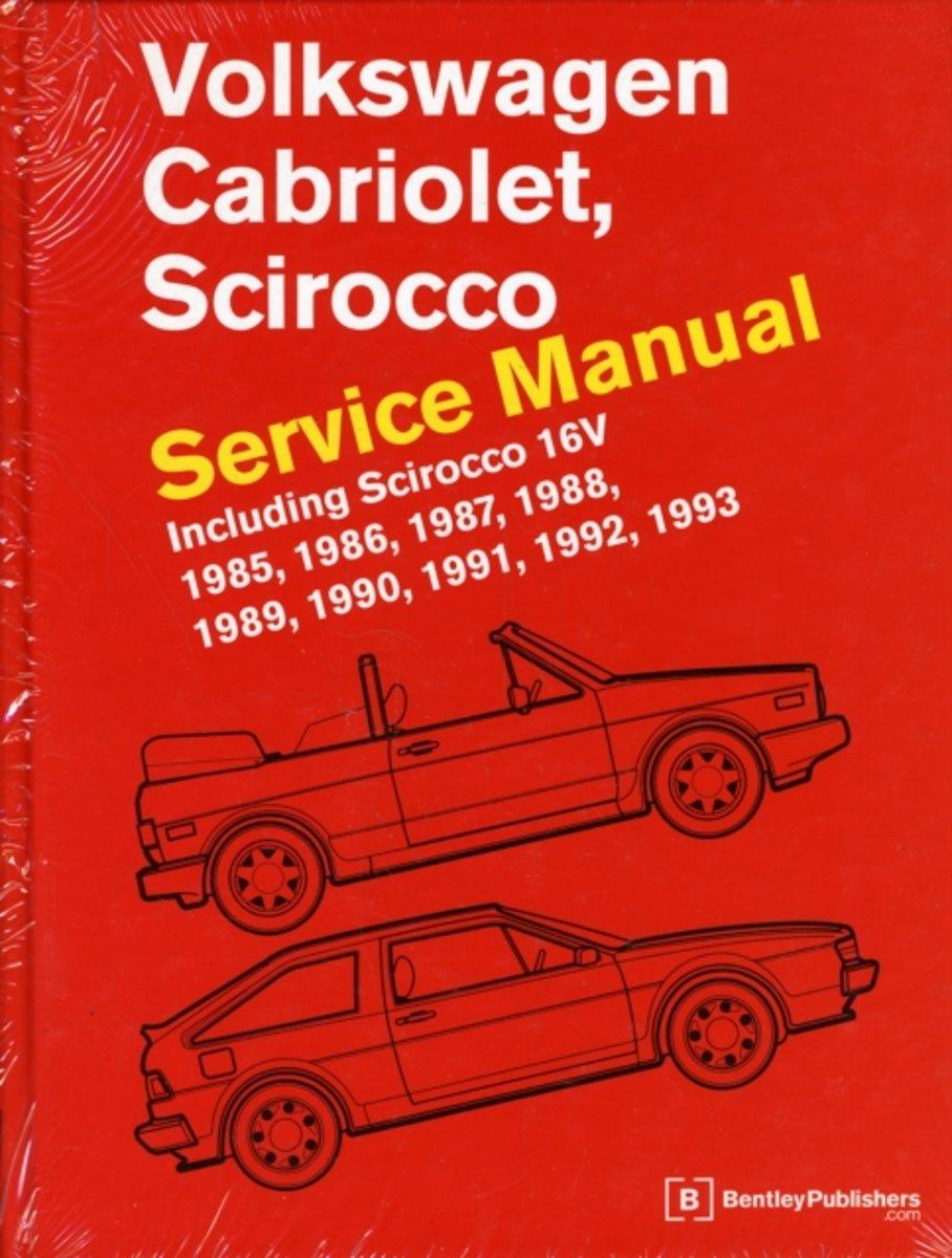 bol.com | Volkswagen Cabriolet, Scirocco Service Manual 1985, 1986, 1987,  1988, 1989, 1990,.