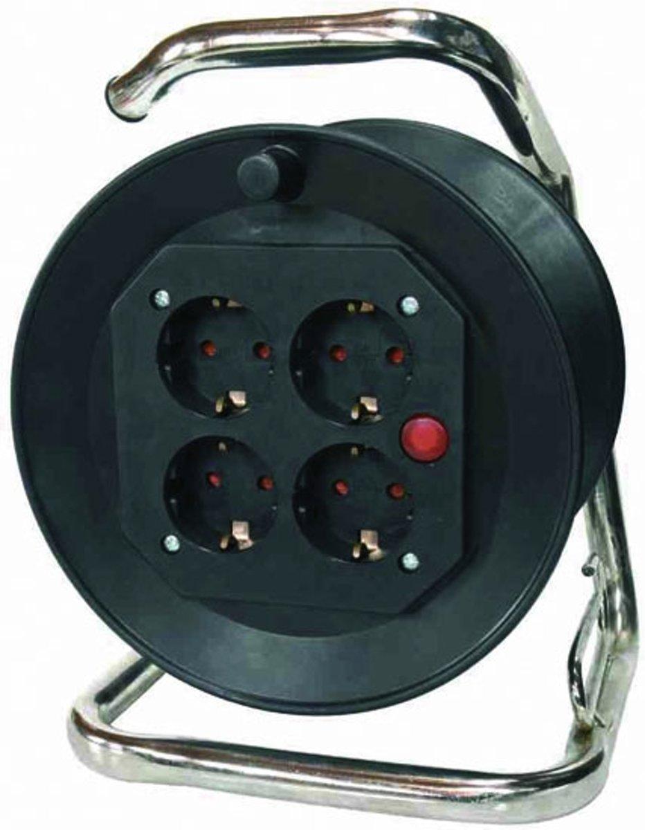AS Schwabe Kunststof kabelhaspel met 4 stopcontacten, 40 m kopen