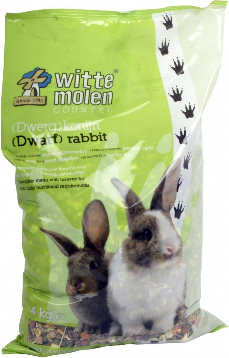 Witte Molen Country (Dwerg)Konijn Konijnenvoer - Snack - 4 Kg