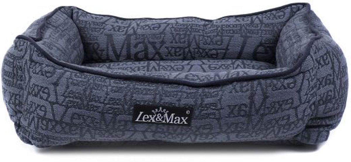 Lex & max chic kattenmand  40x50cm donkerblauw