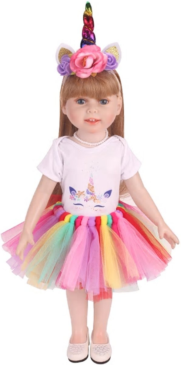 Poppenkleding - Eenhoorn kleertjes voor pop tot 43 CM