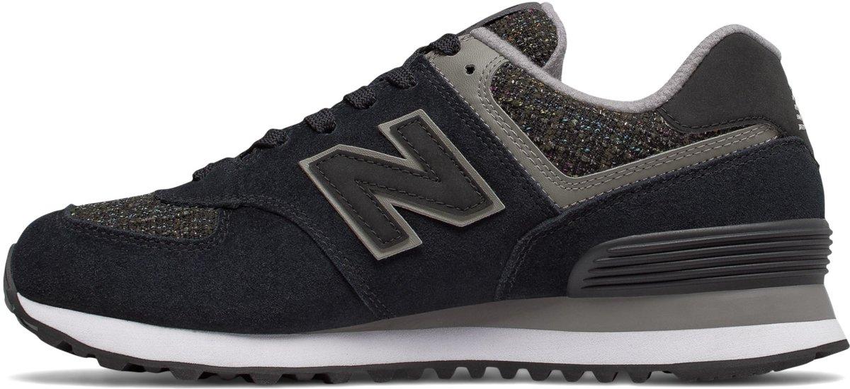 New Balance 574 Classiques Traditionnels Chaussures De Sport - Taille 37 - Femmes - Noir / Gris uszvD