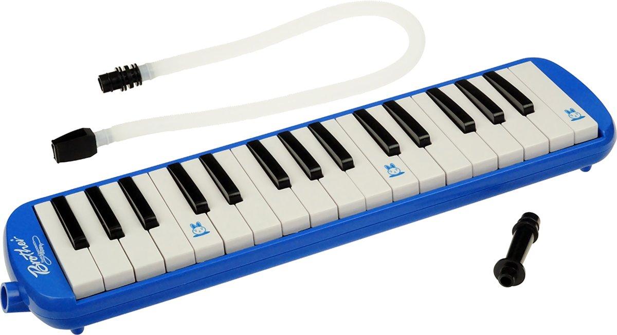 Melodica met tas – Blaas piano / keyboard 32 toetsen - blauw