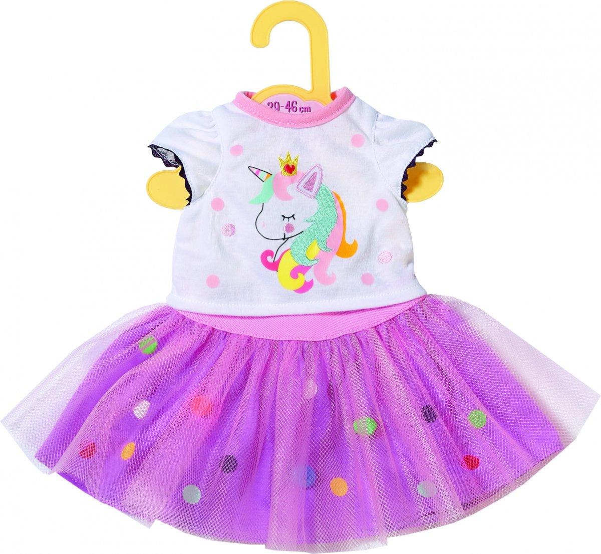 Dolly Moda Unicorn Shirt with Tutu 43cm