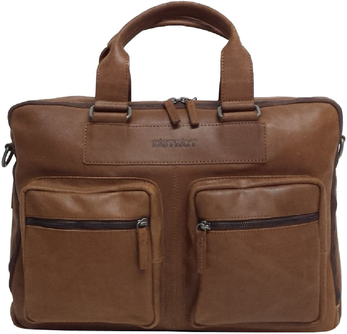 0e1b8acb73e bol.com | DSTRCT Fairfield - Laptoptas - 15,6 inch - cognac