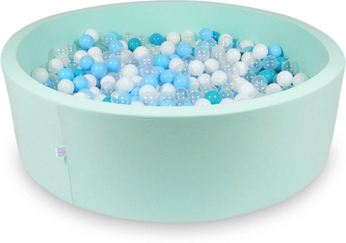 Ballenbak XXL - 700 ballen - 130 x 40 cm - ballenbad - rond mint groen