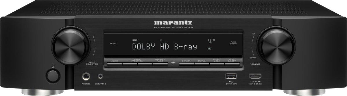 Marantz NR1508 50W 5.1kanalen Surround 3D Zwart AV receiver voor €297,94