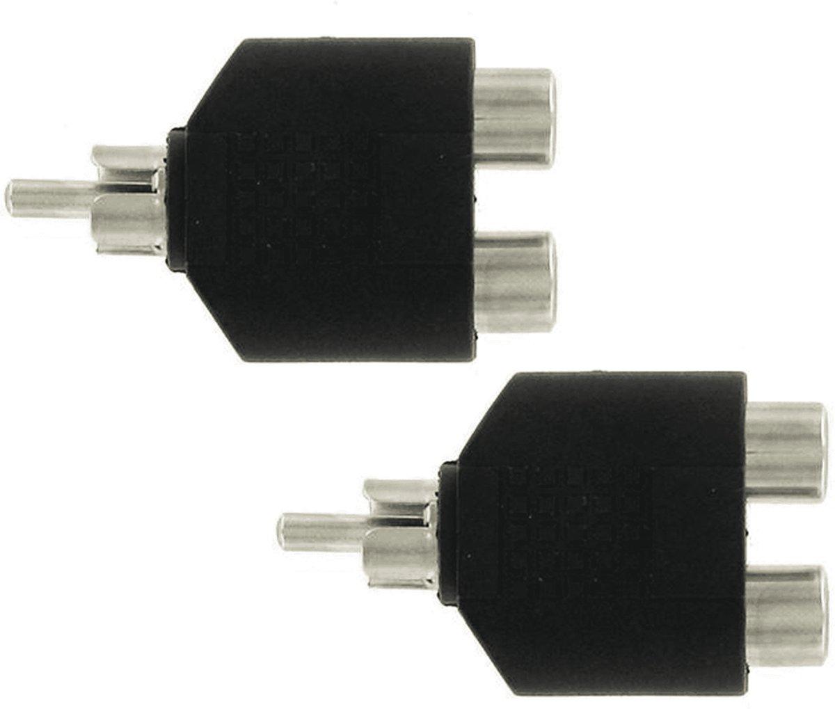 KOPP tulpsplitser cinch splitter set van 2 stuks | ZWART kopen