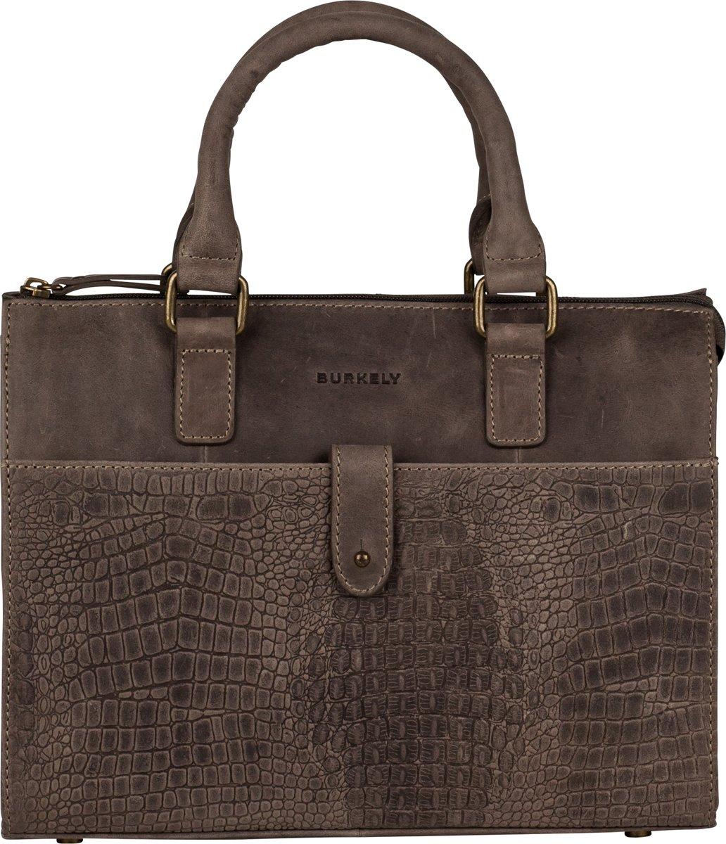 BURKELY Croco Chloe Handbag S Handtas Zwart