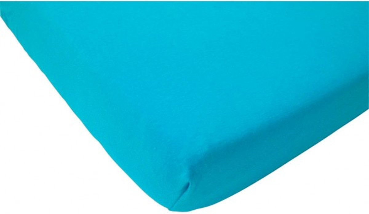 Jollein Ledikant Hoeslaken Jersey - 60x120 cm - Aqua
