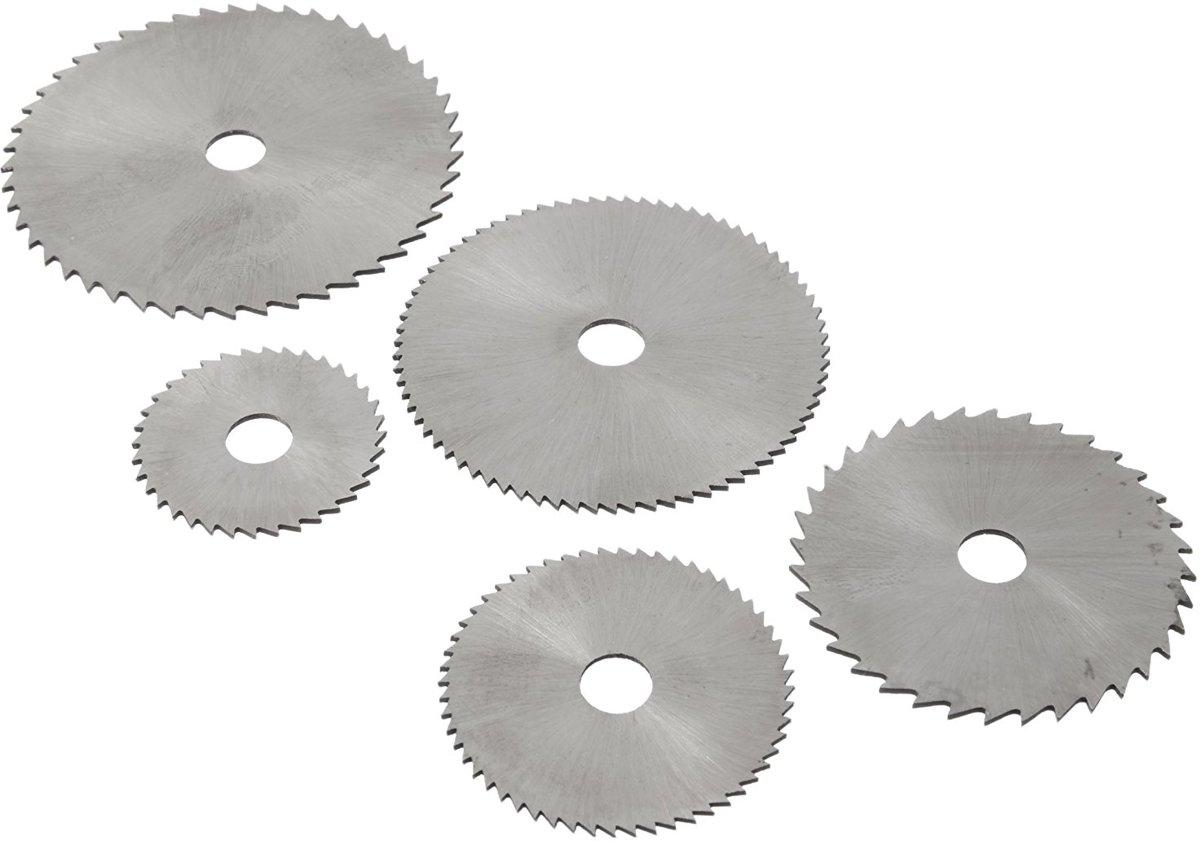 HSS 5-delige Zaagbladen Set - 3.2mm Mandriel - Ø22, 25, 32, 35, 44mm - Max. 20.000 RPM | High-Speed Stalen Zaagbladen | Zaagbladenset Staal