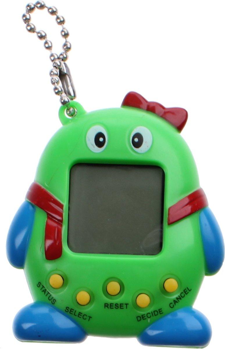 Kids Fun Sleutelhanger Funny Pets Tamagotchi Groen 5,5 Cm