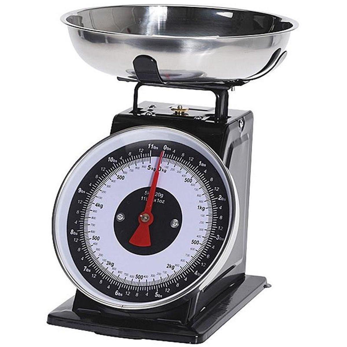 Excellent Houseware Keukenweegschaal 5kg, zwart