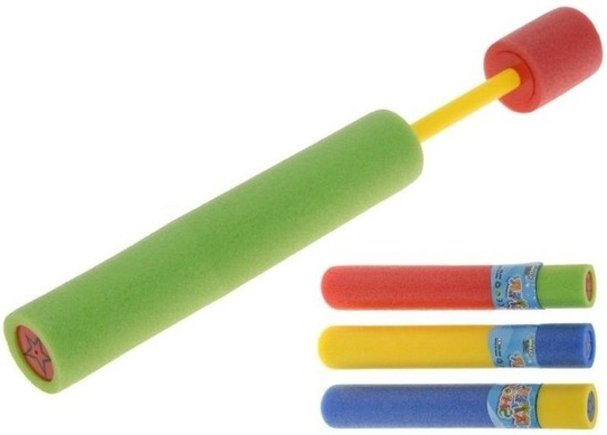 2x Waterpistool van foam 26 cm - Waterpistolen/waterspuiten voor kinderen - Buitenspeelgoed/waterspeelgoed
