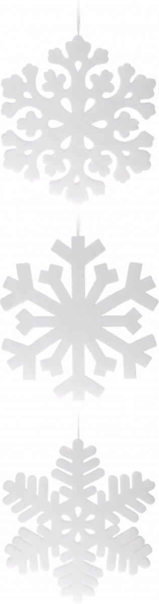 Sneeuwvlok hangdecoratie wit 49 cm 1x kopen
