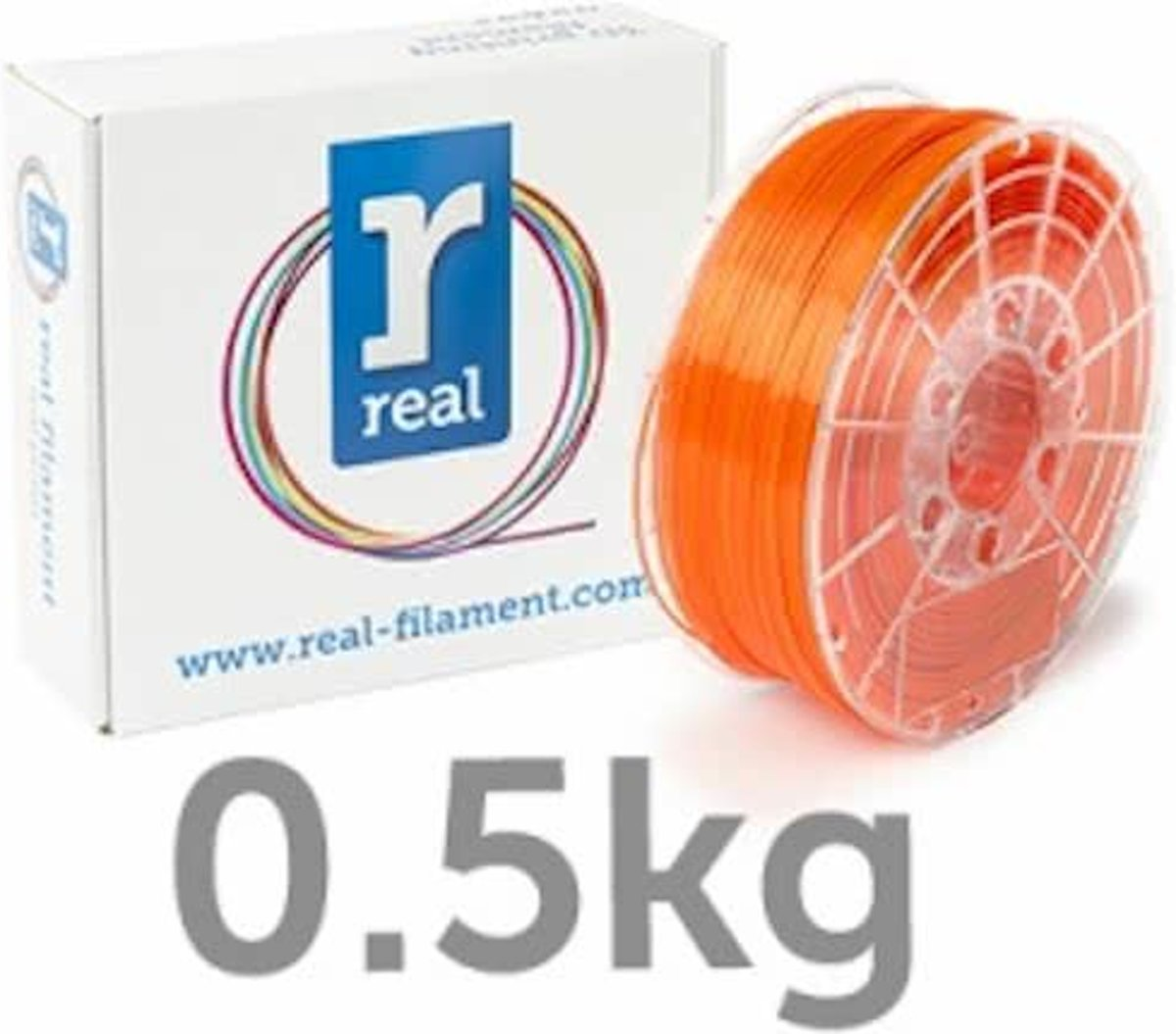 REAL Filament PETG transparant oranje 1.75mm (500g)