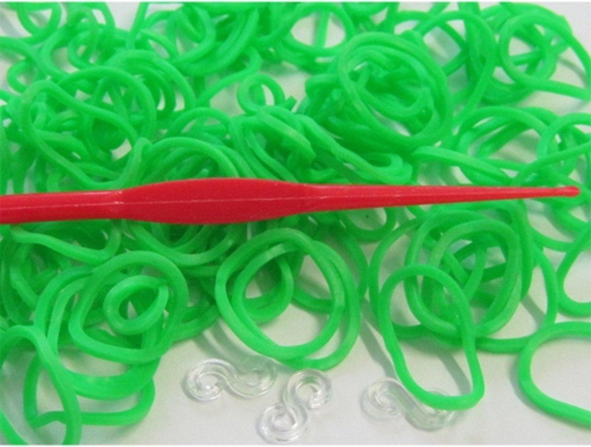 Loom Elastiekjes - 200 Stuks - Neon Groen