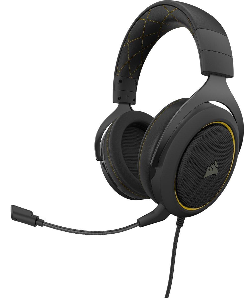 Corsair HS60 Pro Surround Gaming Headset - Zwart/Geel - PS4 + PC + Switch kopen