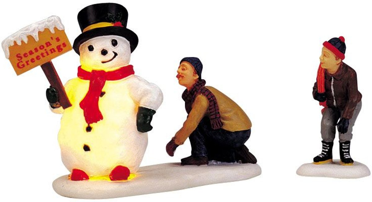 Lemax Kerstdecoratie Lemax - Frosty's Friendly Greeting, set/2, b/o (4.5V) kopen