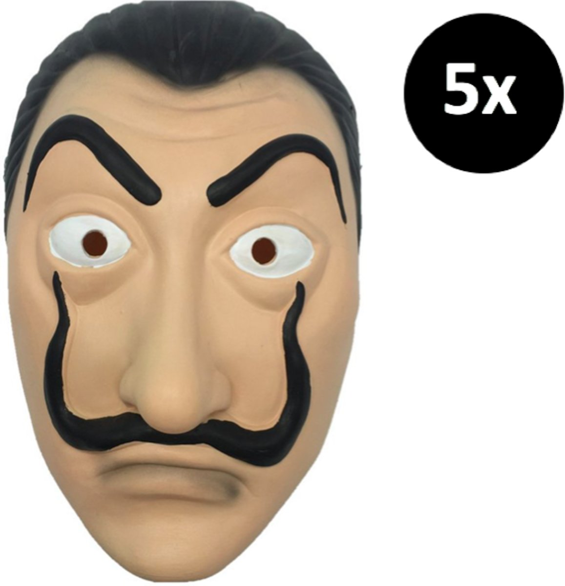 La Casa de Papel masker - 5 stuks - Dali masker - Dali masker verkleedpartij kopen