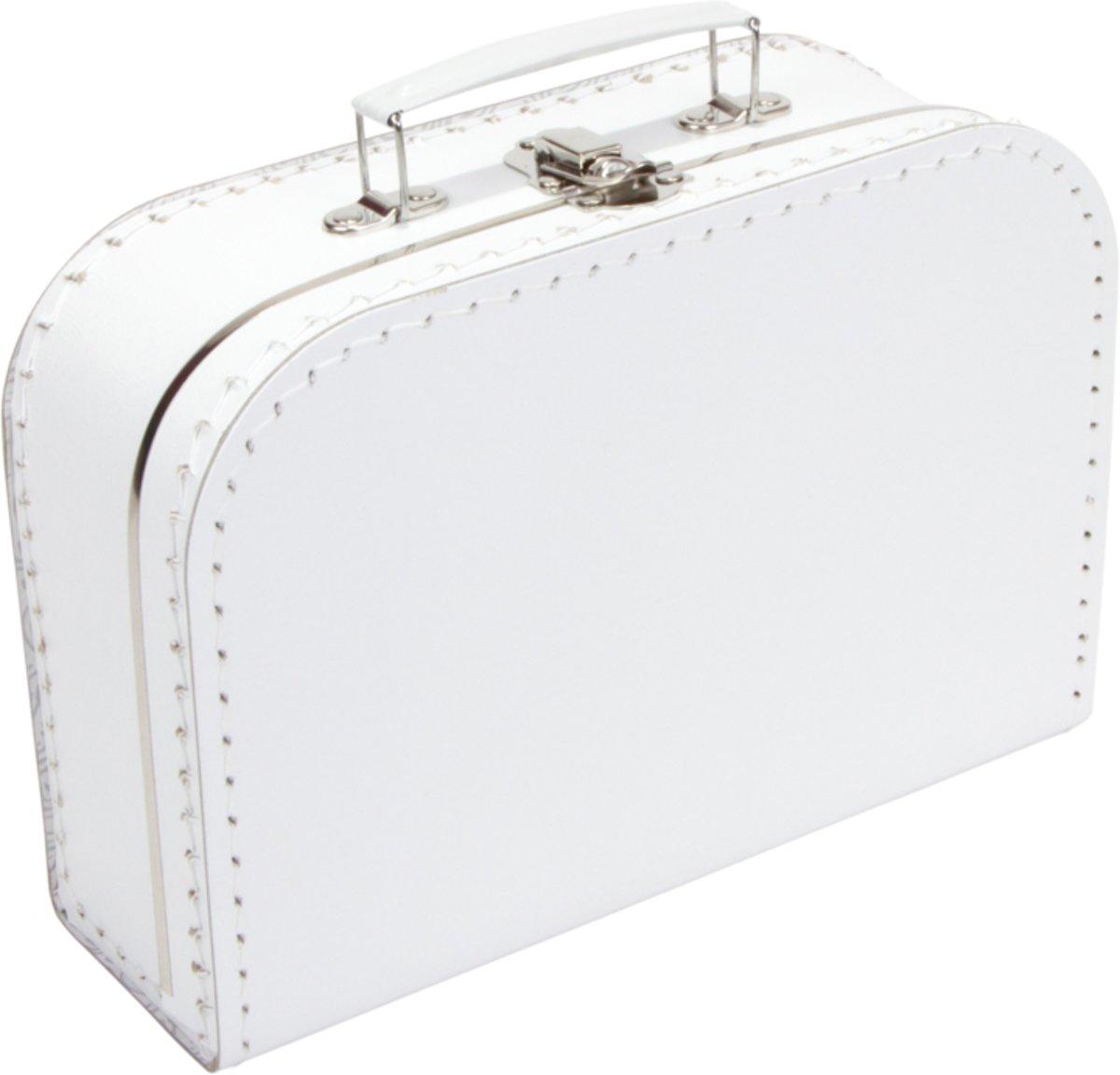 Koffertje effen blanco 25cm Wit - Kinderkoffertje