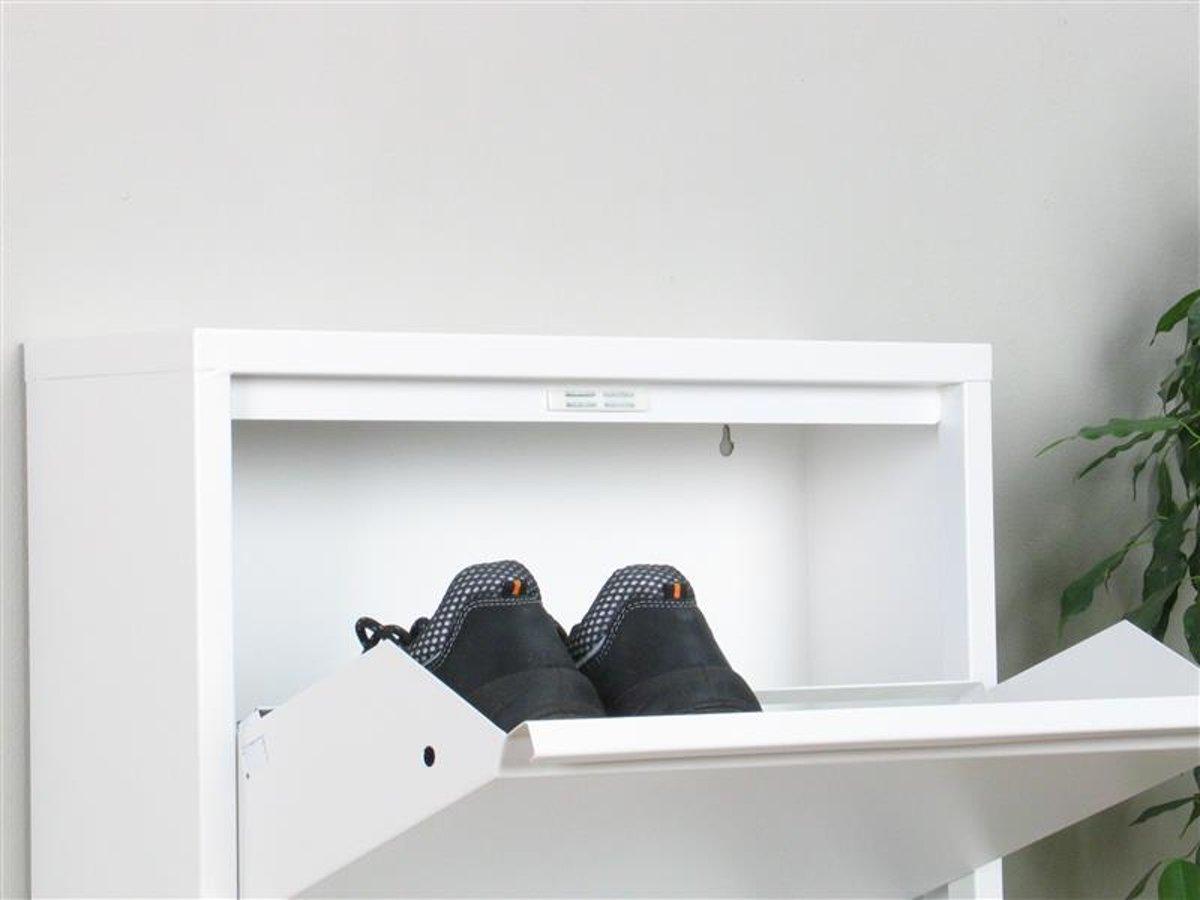 Ondiepe Kast Hal : Bol.com pisa schoenenkast wit metaal met 4 vakken set van 3