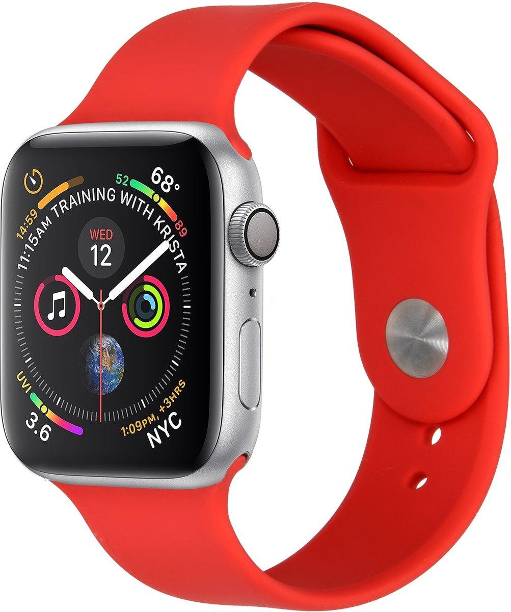 Rood siliconen sport bandje voor de Apple Watch 40 / 38 mm kopen