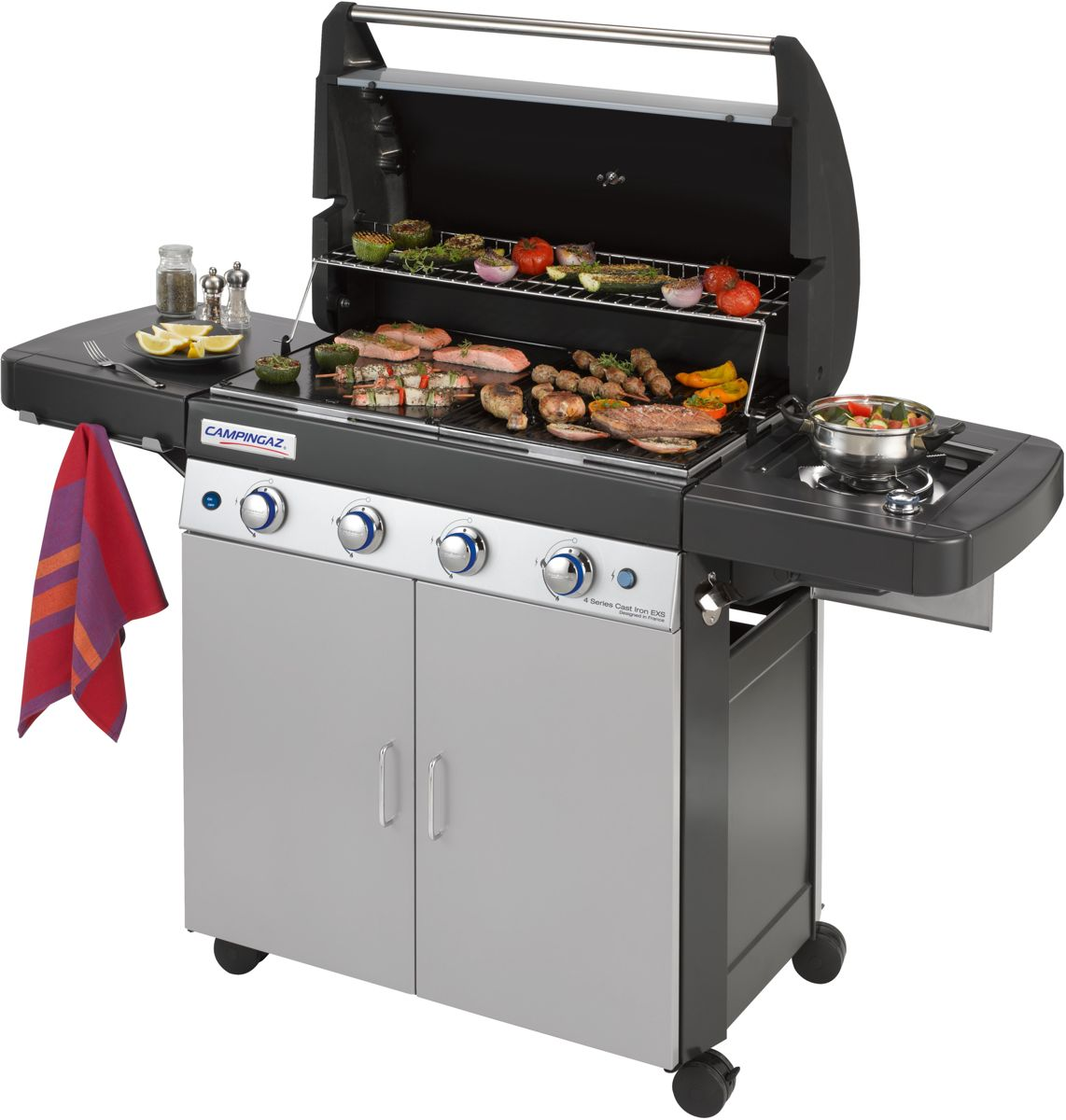 Campingaz 4 Series Cast Iron EXS Gasbarbecue