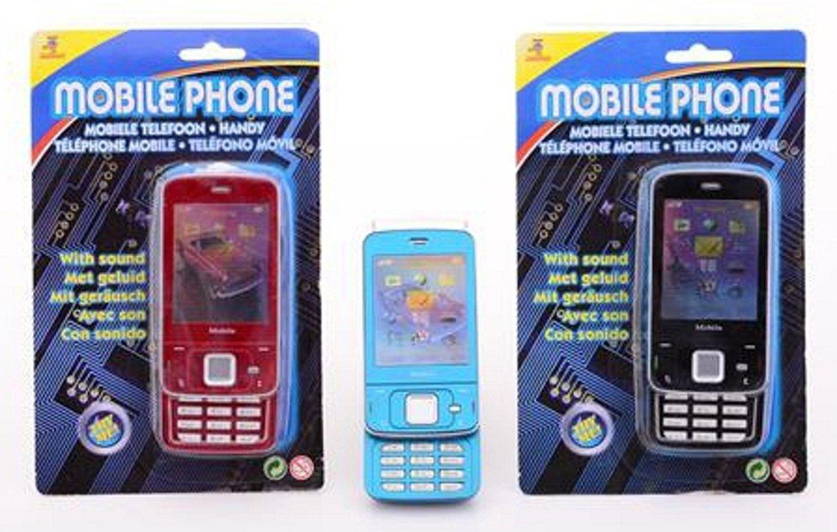Speelgoed mobiele telefoon met geluid  Zwart
