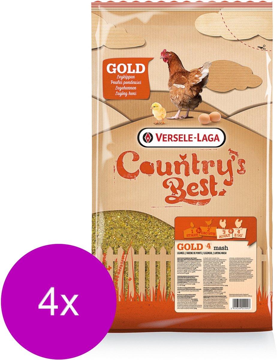 Versele-Laga Country`s Best Gold 4 Mash Legmeel - Kippenvoer - 4 x 5 kg Vanaf 1e Ei