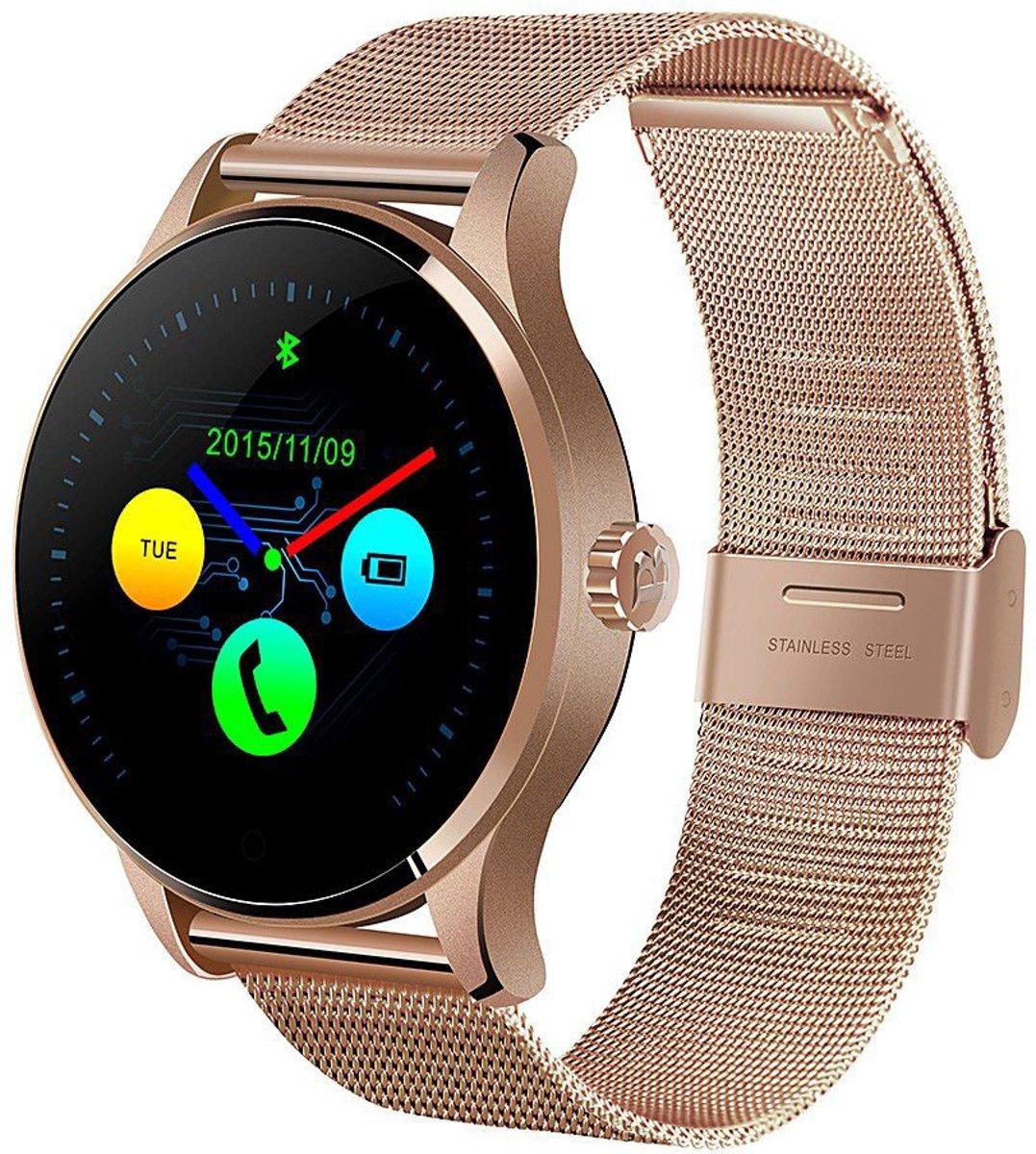 Afbeelding van Gouden Trade up to Date Smartwatch K88H - Goud - Metaal + Losse Screenprotector