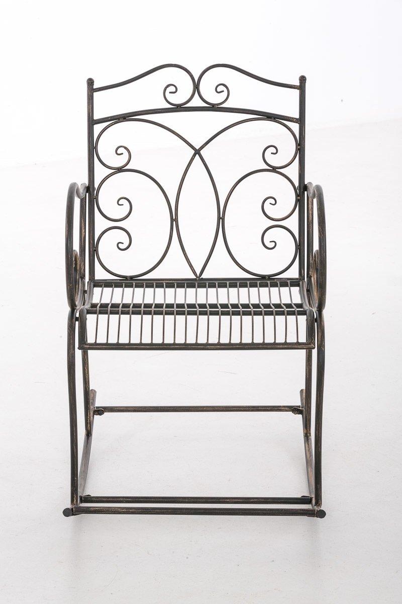 Clp Schommelstoel EDITH, tuinstoel, terrasstoel, balkonstoel, vintage, country live stijl, retro, nostalgisch, landhuisstijl, relaxstoel - bronskleur