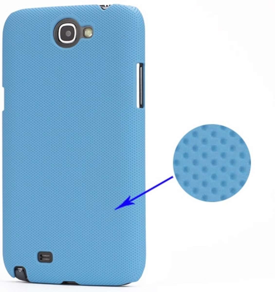 Image of Samsung Galaxy Note 2 N7100 Dream Mesh Hard Case Licht Blauw (8718894028667)