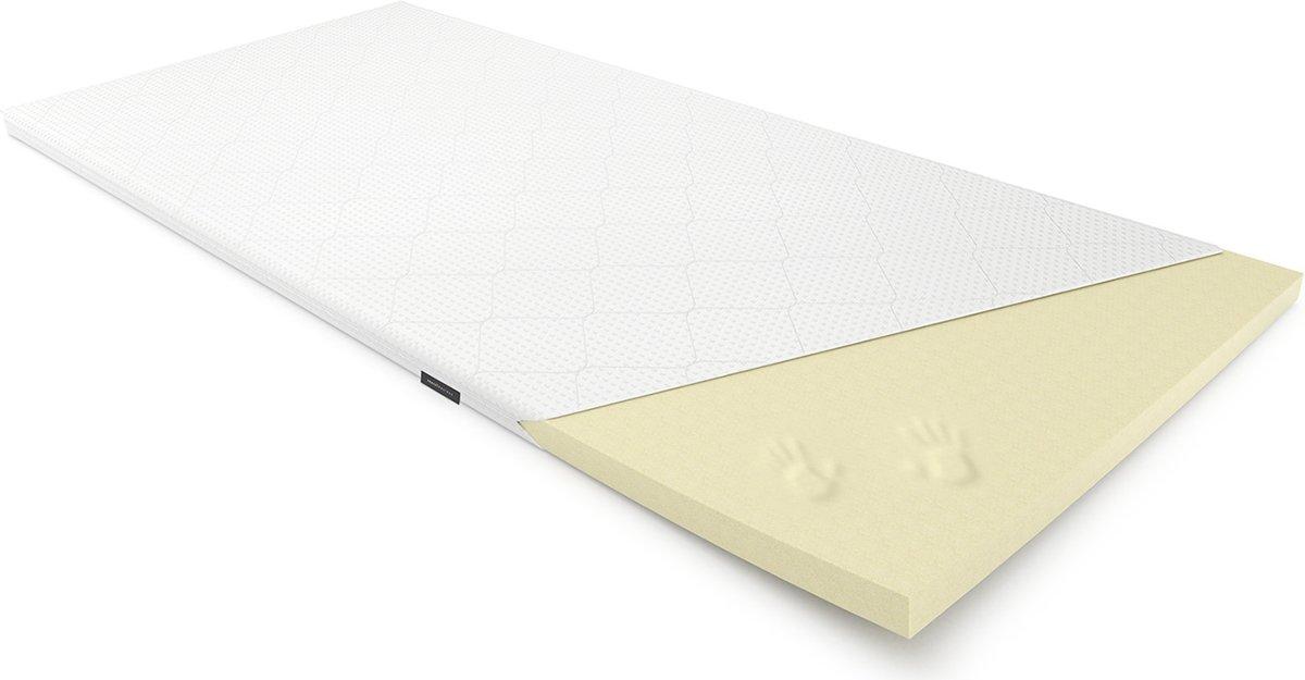 Sleepwell© Topper - Traagschuim Topdek matras - 6cm Hoog - 180x200cm - Wasbare Hoes &  Aloë Vera