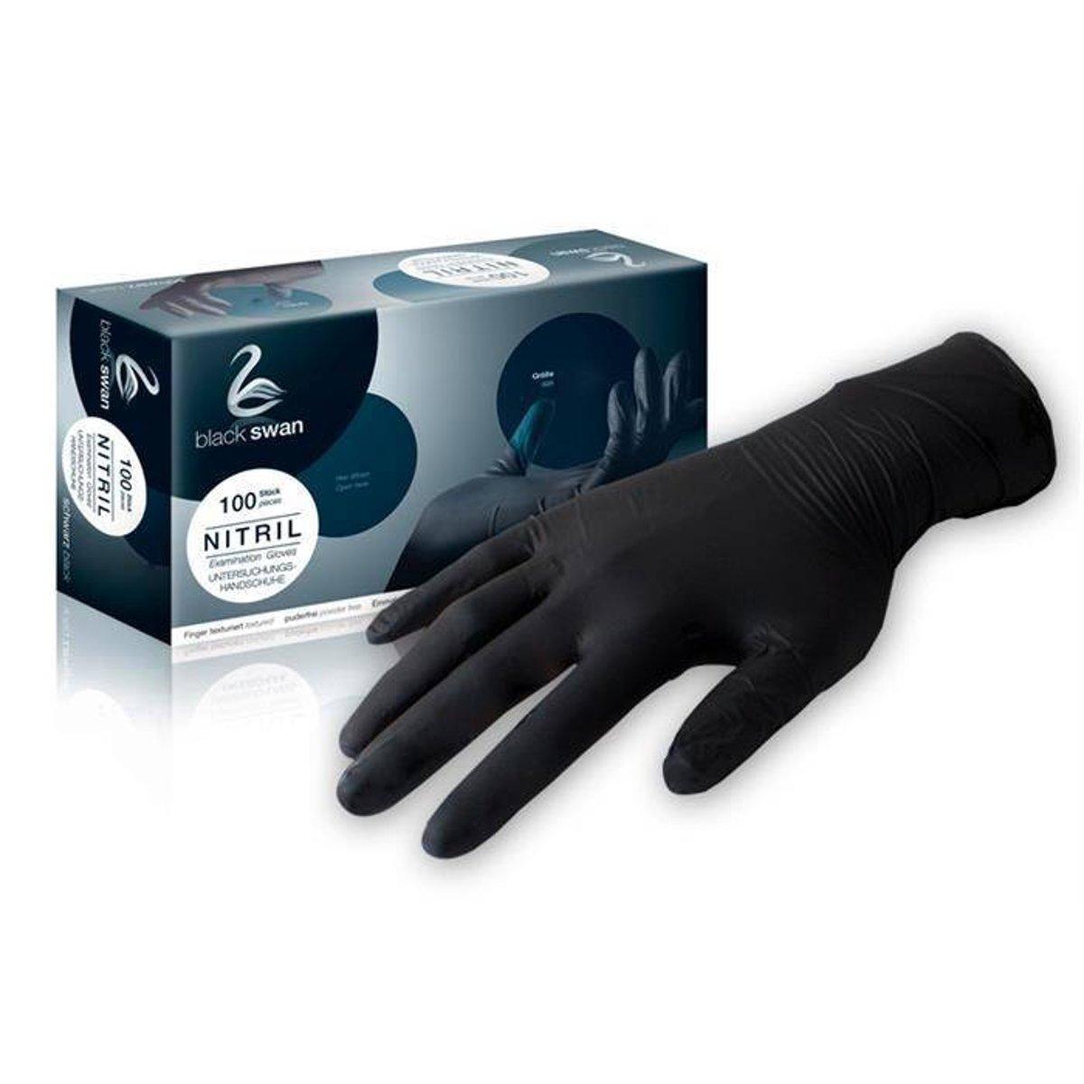 Nitril Handschoenen, Zwart 100 st, maat: XL kopen