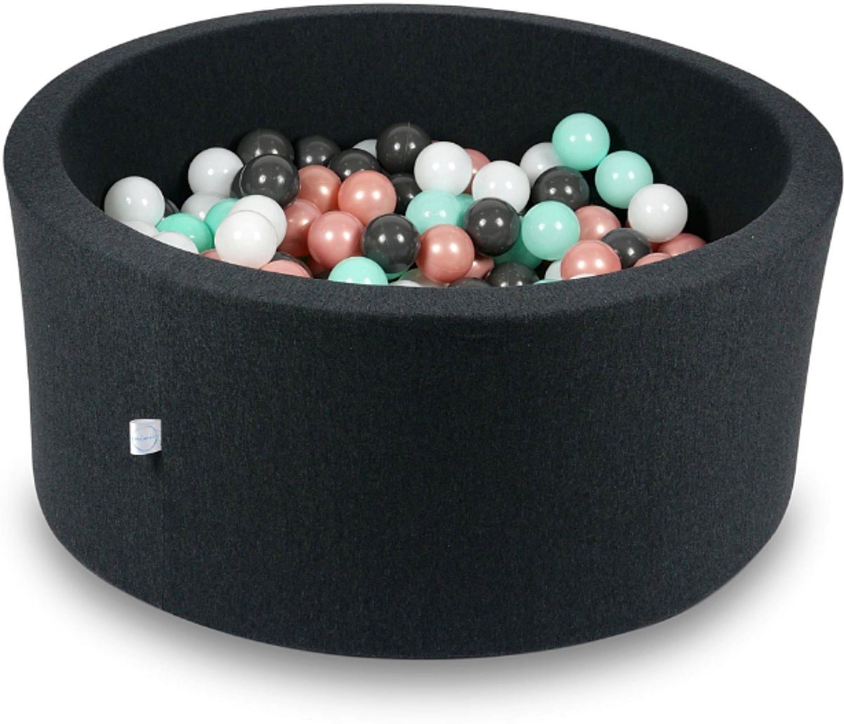 Ballenbak - 300 ballen - 90 x 40 cm - ballenbad - rond zwart