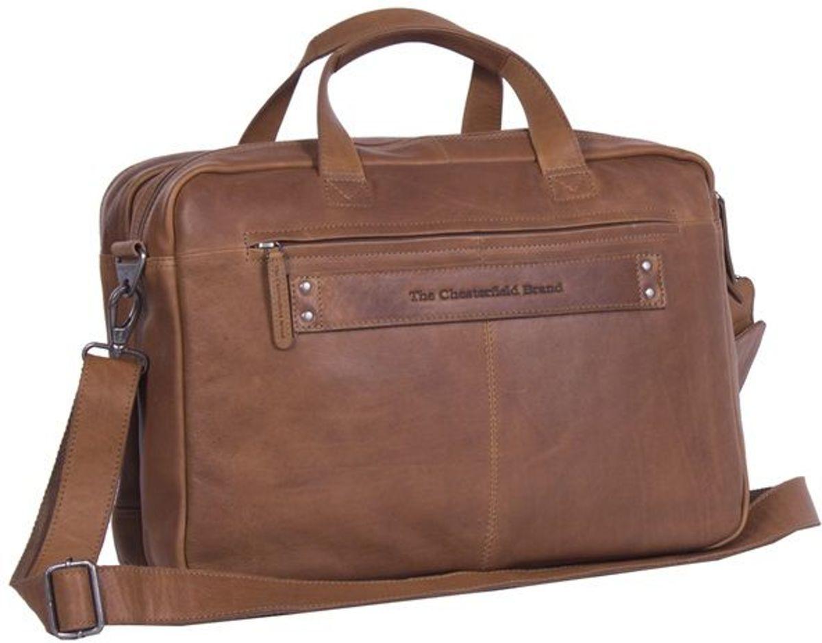 11a809a9370 bol.com   Chesterfield Business Schoudertas met Laptopvak 17'' Ryan Cognac