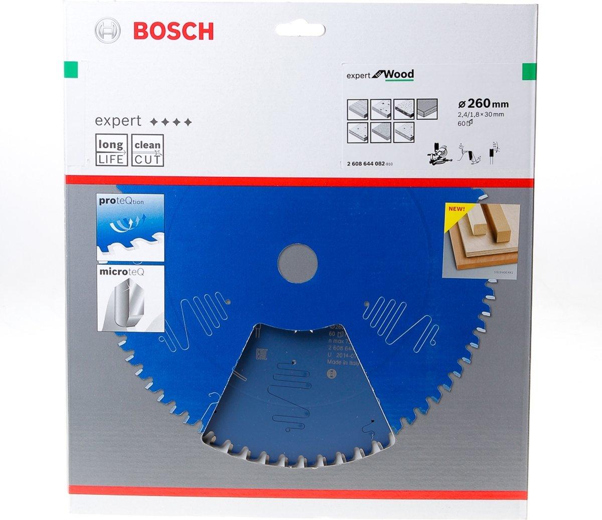 Bosch Cirkelzaagblad 60 tanden Wood Negative ABT 260 x 30 x 2.4mm