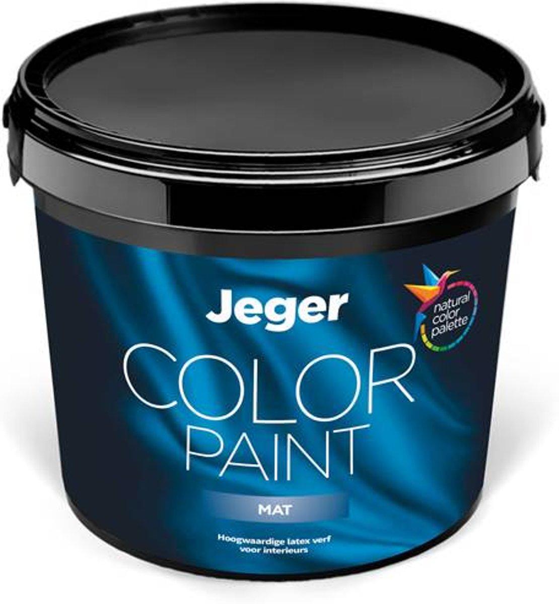 Jeger muurverf Mat voor binnen | 5 liter | Kleur Olijfgeel (RAL 1020) Olijfgeel - 5L