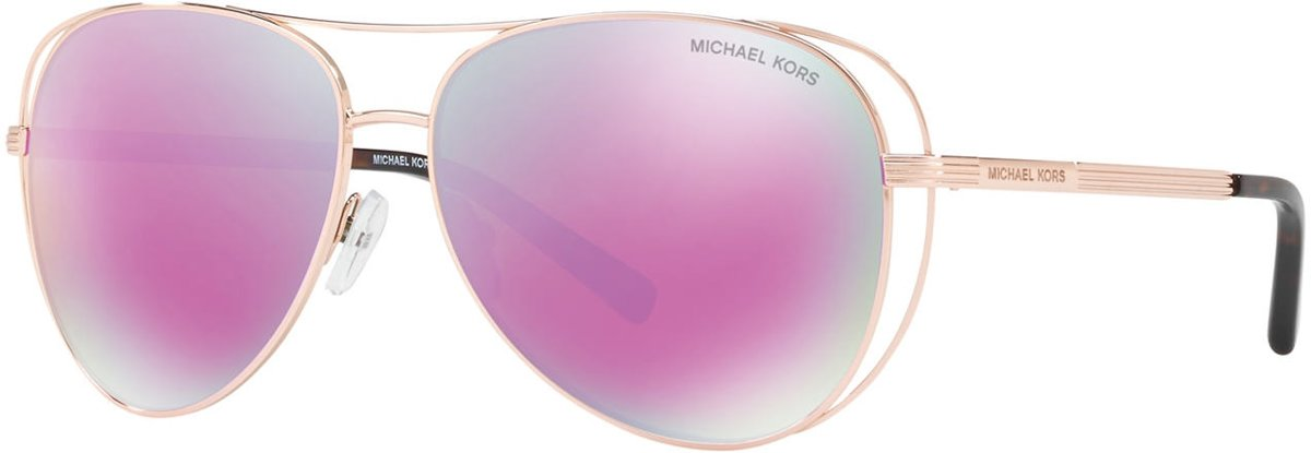 Michael Kors Lai Rose Gold Tone Zonnebril 0MK1024 11944X 58 - Goud kopen