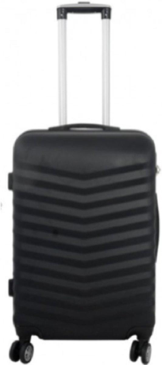 koffer Travelsuitcase kleur zwart | 56cm kopen