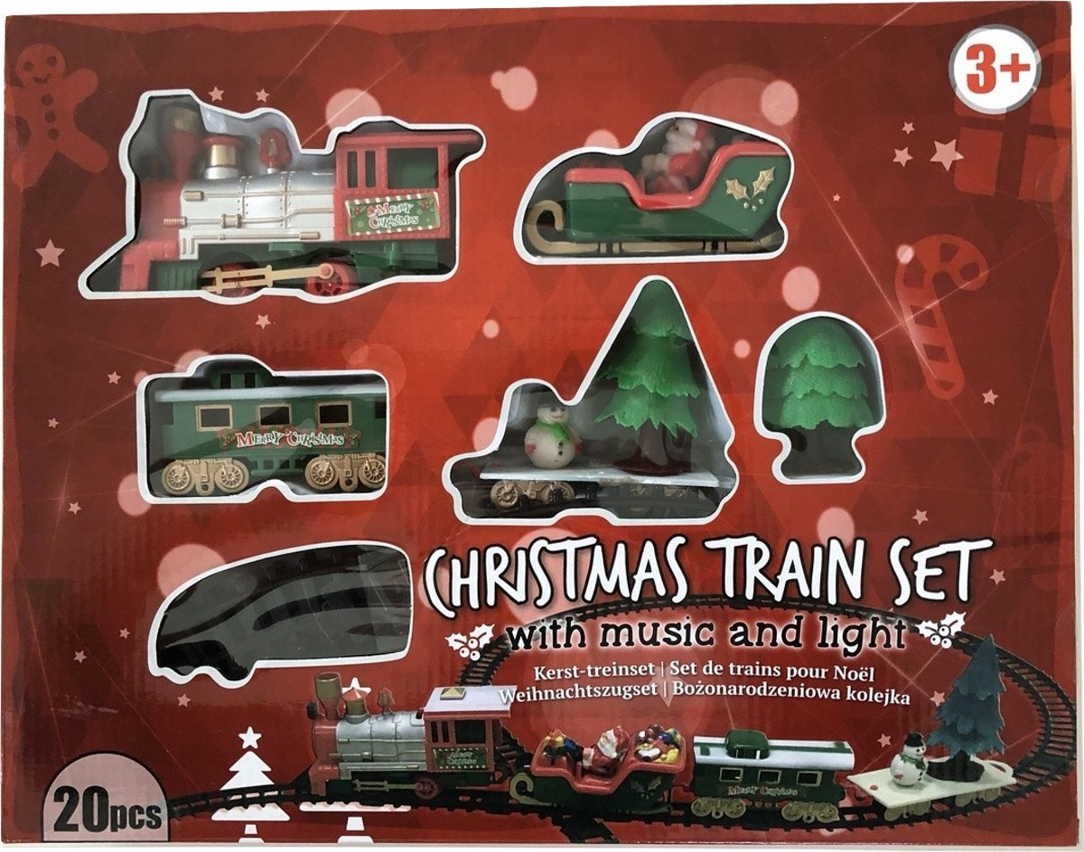 Kerst Treinset - speelt Kerstliedjes - werkt op Batterijen kopen