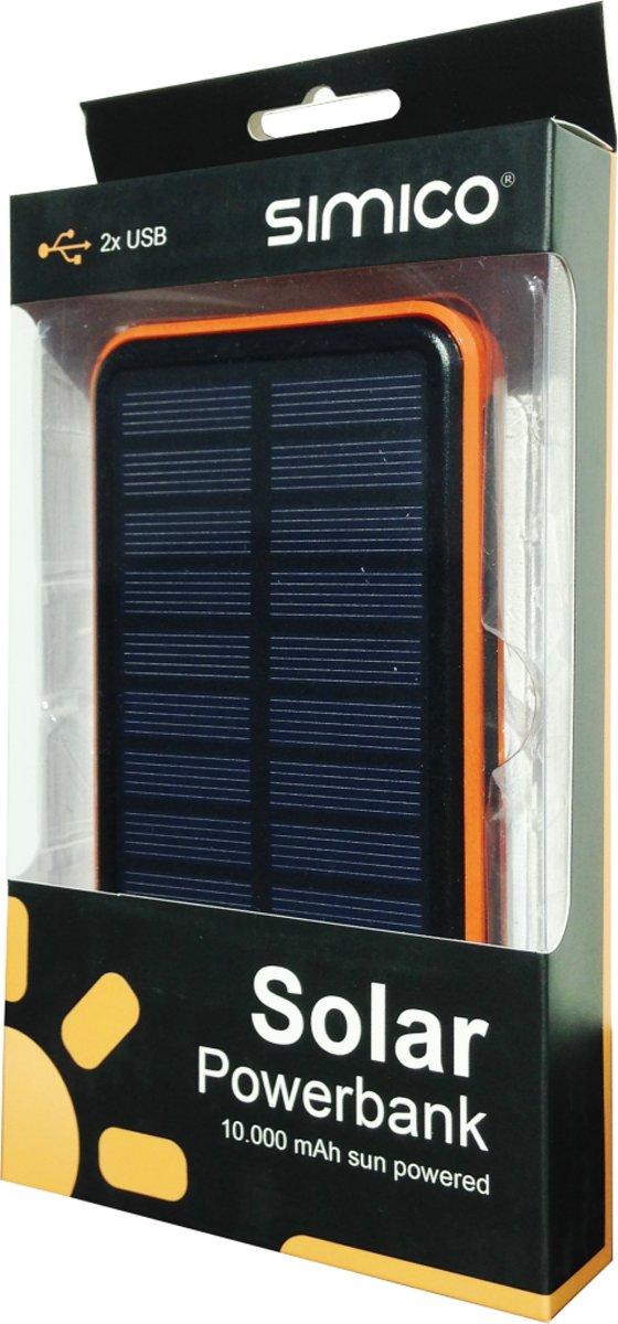 SIMICO Solar powerbank 10 000 mAh