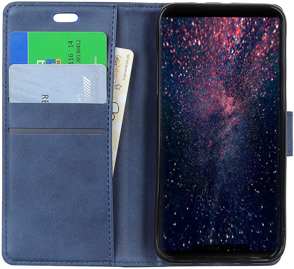 Huawei P Smart (2019) Matte Portemonnee Hoesje Blauw