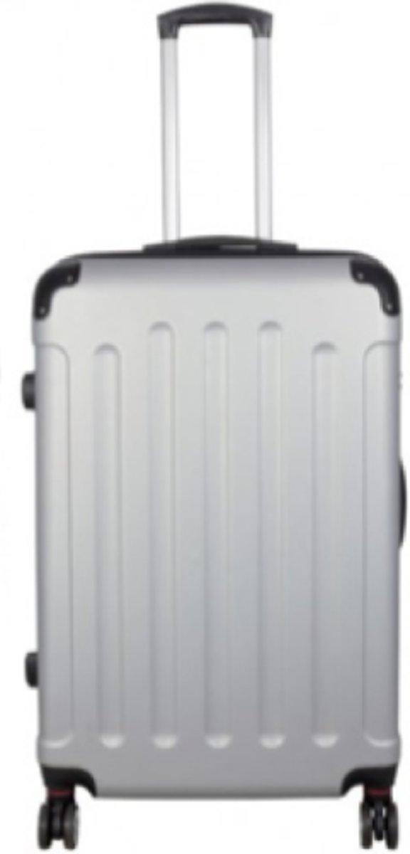 koffer travelsuitcase zilver | 78cm kopen