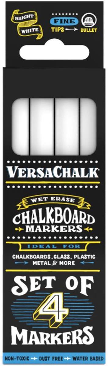 VersaChalk- Liquid Chalkboard Markers - fine - 4 stuks